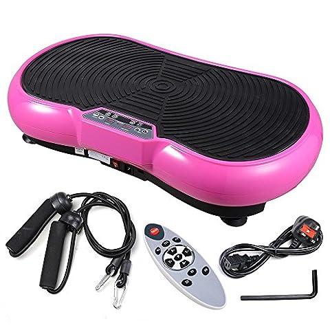 ReaseJoy 500W Vibration Plate Crazy Fit Massage Exercise Machine Oscillating Platform Pink