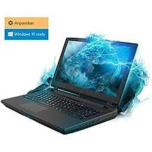 Gaming Laptop Kiebel Tsunami 8.0 (15.6 Zoll 39.6cm) Gamer Notebook mit nVidia GeForce 1060 6GB, Komponenten frei wählbar: bis Intel i7 8700K, bis 64GB DDR4, bis 2TB Samsung 970 M.2 SSD, individuell zusammenstellbar mit Konfigurator