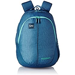 Wildcraft Polyester 28 Ltrs Blue School Backpack (Wiki 1 Hue 1)