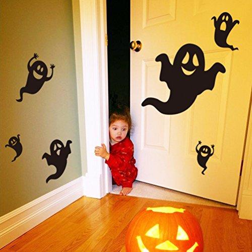 Halloween Gesicht Grill (Abnehmbar, Wasserdicht, Grün) für Wohnzimmer Schlafzimmer Büro Wohnheim Hintergrund Dekoration,Schwarz