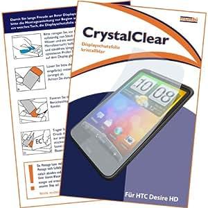 """mumbi Displayschutzfolie HTC Desire HD Displayschutz """"CrystalClear"""" unsichtbar"""