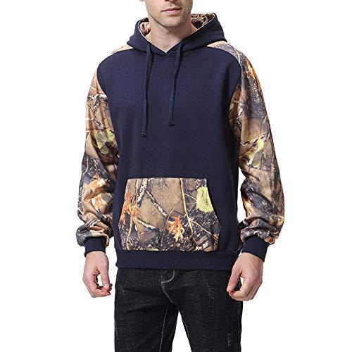 TWBB Herren Bekleidung Winter Warme Drucken Kapuzen Kapuzenpullover Mantel Outwear Oberteile Mit Tasche