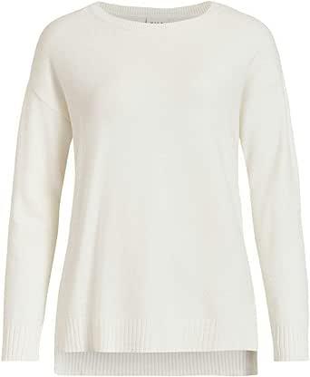 Vila Viril High Low L/S Knit Top-Noos Maglione Donna