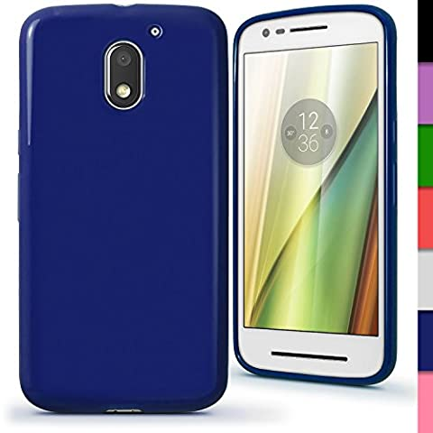 iGadgitz Solid Blue Glossy TPU Gel Skin Case Cover for