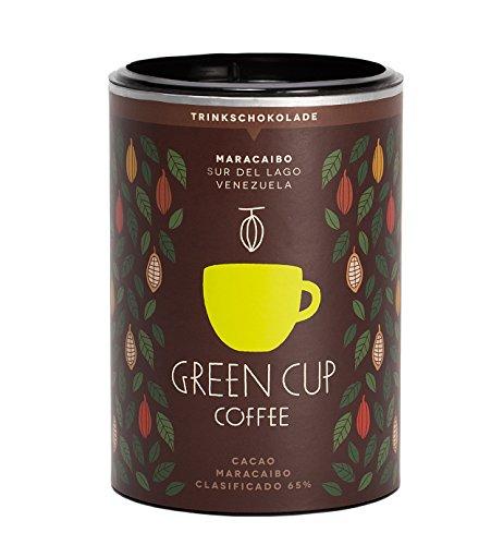 Green Cup Grand Cru - Premium Kakao Trinkschokolade - edelste Kakaobohnen aus Venezuela für Deluxe Kakaogenuss - ideal für heiße Schokolade - Dark Zartbitter Cocoa - 227g Dose