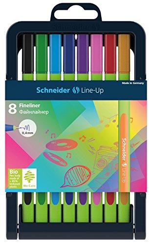Schneider–Penna fineliner Line Up, 0,4mm, 8er penne box assortiti