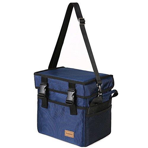 Tomshoo borsa termica, borsa pranzo, picnic pieghevole isoterma con tracolla grande capacità 10/18/28/37/47/70l per campeggio, scuola, lavoro