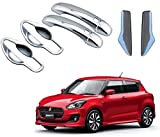 #4: Auto Repute Premium Quality Car Chrome Front and Rear Door Handle Latch Cover with Handle Bowl for - Maruti Suzuki Swift 2018