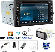 Supervisar coche est??reo Autoradio RDS En la cubierta universal 2 Din BT M?²sica coches reproductor de DVD Automotive Radio Audio Video motorizado Sub Control remoto AMP logotipo de TV
