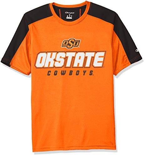 Ritter Apparel Herren NCAA Impact Uni T-Shirt, Herren, Ncaa Men's Impact Colorblocked T-shirt, Orange Colorblocked Zip