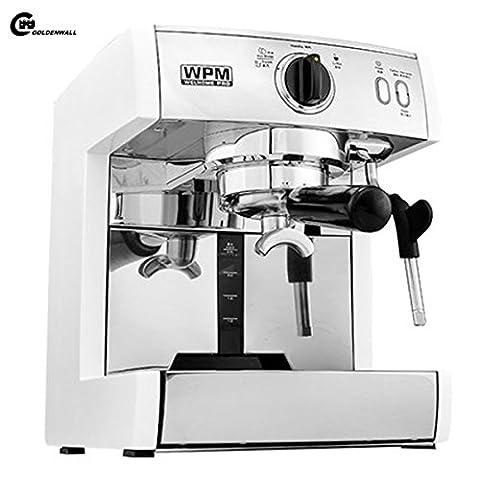 cgoldenwall 125cm Kratzbaum 2in 1Milch Kaffeemaschine Milchaufschäumer Pumpe Espresso Kaffeemaschine Italian Style Kaffeemaschine?Heiße Getränke, Cappuccino & Kaffeemaschine 220V 1350W - weiß