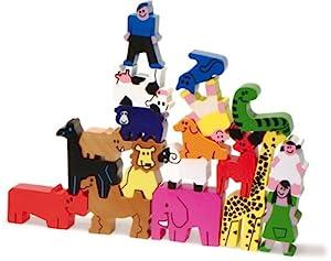 Vilac 2172 - Lote con Personajes y Animales apilables (Madera)