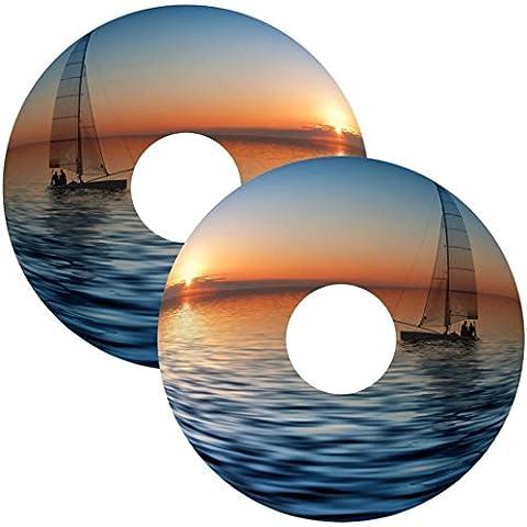 Carrozzina Ha parlato Cover Per Copri Tramonto In Barca Da pesca Design Personalizzato Adesivo Personal(55.9cm COPERTONE)