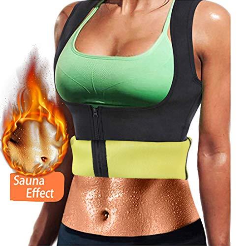 Litthing Chaleco Deportivo de Yoga para Mujer Fitness Sauna Neopreno Chaleco de Entrenamiento Compresión para Adelgazar Establecer Estatua Reducir Dolor