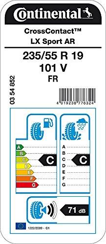 Continental ContiCrossContact LX Sport - Pneu été 235/55 R19 101V - C/C/71