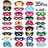 35 Pezzi Maschere di Supereroi, Yidaxing Supereroe per feste, Supereroi Cosplay Maschere Per Bambini Adulti Mascherata P