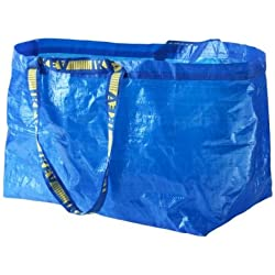eLisa Ikea Lot de 5 grands sacs Frakta Bleu Capacité maximum 25 kg