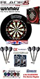 Blade 5 Dual Core + H. Surround black + 2 Set Phil Taylor Darts + Abwurflinie + 5er Set Flights