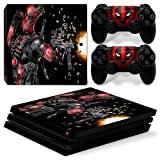 ZoomHit Ps4 PRO Playstation 4 PRO Console Skin Decal Sticker DeadPool + 2 Controller Skins Set (Pro Only)
