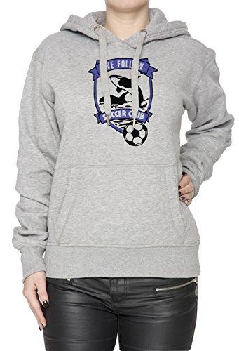 We Follow Soccer Club Donna Grigio Felpa Felpa Con Cappuccio Pullover Grey Women's Sweatshirt Pullover Hoodie