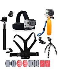 For Gopro Accessories,YHTSPORT Gopro Accessories Kit for Gopro Hero 6 5 4 3 Hero Session and SJ4000 Xiaomi Yi DBPOWER and Other Sports Cameras