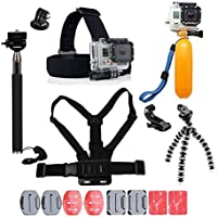 YHTSPORT For Gopro Accessories, Gopro Accessories Kit for Gopro Hero 6 5 4 3 Hero Session and SJ4000 Xiaomi Yi DBPOWER and Other Sports Cameras