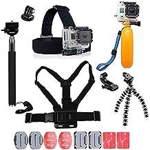 Para GoPro Accesorios, yhtsport GoPro Accesorios Kit para GoPro héroe 6543héroe Sesión y SJ4000Xiaomi yi DBPOWER y otros deportes cámaras, color negro