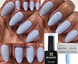 BLUESKY 80596 Creekside Light Baby Blau Pastell Nagellack-Gel UV-LED-Soak Off 10 ml plus 2 LuvliNail Shine Tücher