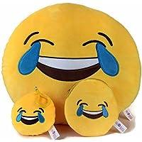 Global Classifiche Poop Emoji cuscino con catena portachiavi & morbido denaro borsetta Laughter