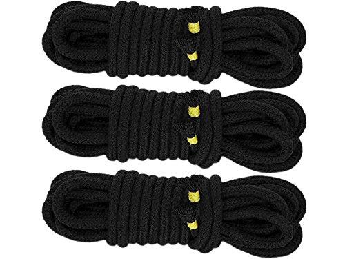 3x 5m Bondageseil Bondage Seil 5 Meter 8mm Rope Baumwollseil (3x 5m Schwarz)