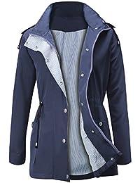Raincoats Waterproof Lightweight Rain Jacket Active Outdoor Hooded Women s  Trench Coats 5906fa8b3