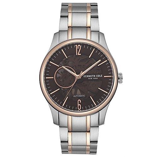 Kenneth Cole Reloj Analógico para Hombre de Automático con Correa en Acero Inoxidable KC50224004