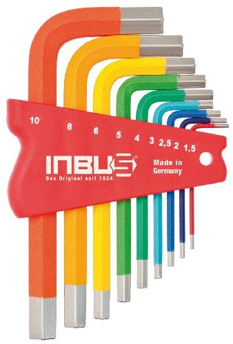 INBUS® 70259 Inbusschlüssel Satz Farbcodiert Kurz Metrisch 9tlg.