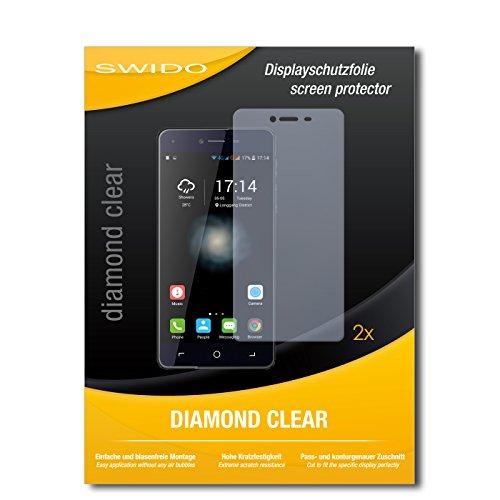 SWIDO 2 x Bildschirmschutzfolie Switel eSmart H1 Schutzfolie Folie DiamondClear unsichtbar