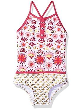 Hatley Colourblock Swimsuit, Traje de Baño de Una Pieza para Niñas
