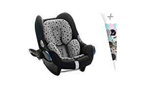 JANABEBE Reducer Support Cushion for Head & Body Baby support, antiallergic, made in cotton Black Star