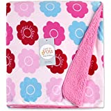 Baby Bucket AC Blanket BIG Size (Double Layer Velvet Fleece From 0 To 4 Years .Size:4 X 5 Feet Colour:Pink)