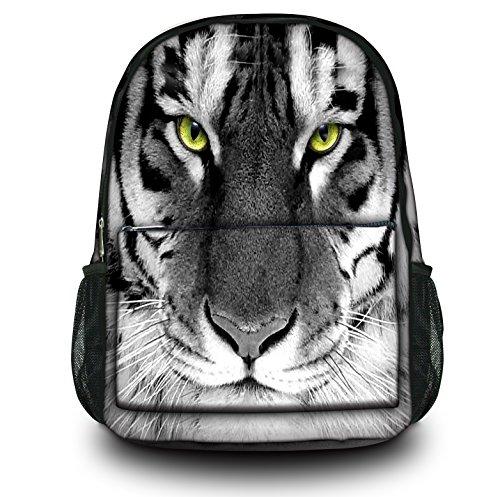 Luxburg® Design Rucksack Multifunktionsrucksack Ranzen Schulranzen Sporttasche Backpack Tigeraugen