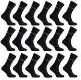 18er Pack Pierre Cardin Socken Herren Business-Socken Anzug-Socken Schwarz PC8010, Größenauswahl:39 - 42