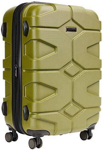 HAUPTSTADTKOFFER - X-Kölln - Valigia bagaglio a mano 55 cm, Trolley espandibile rigido, legero, ABS, TSA,  43-50 litri, Oliva