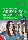 PONS Power-Sprachkurs Griechsch in 4 Wochen: Lernen Sie Griechisch mit Buch, 2 Audio+MP3-CDs und Online-Tests