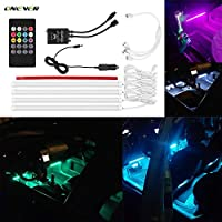 Wireless Remote Control Car RGB LED Neon Interior Light Lamp Strip