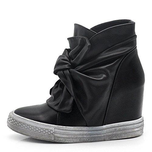 b1323479ec3 Chaussures Femme Inconnues Bottines Bottes Printemps Eté Suède Daim Perforé  Intérieur 6623 1723 Noir