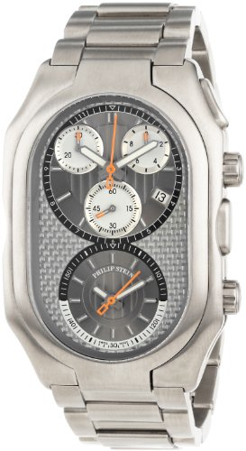 Philip Stein Men's 13TI-WCG-TSS Prestige Titanium Chronograph Titanium Bracelet Watch