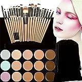 FantasyDay® Professionale 15 Colori Correttore Cosmetico Camouflage Palette Trucco + 20 Pcs Pennelli Trucco #5 - Adattabile a Uso Professionale che Privato