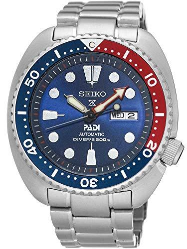 Seiko Herren Analog Handaufzug Uhr mit Edelstahl Armband SRPA21K1