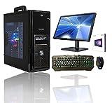 """PC DESKTOP INTEL QUAD CORE LICENZA WINDOWS 10 PROFESSIONAL 64 BIT CASE ATX /RAM 8GB/HD 1TB/WIFI/INGRESSI HDMI DVI VGA 500W COMPLETO + MONITOR SAMSUNG 22"""" LED TASTIERA E MOUSE USB PER UFFICIO SOCIAL"""