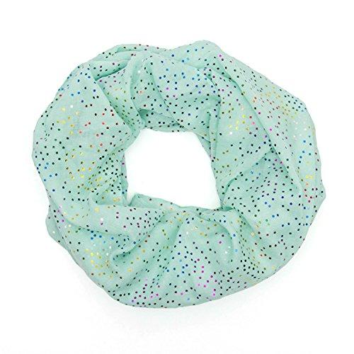MANUMAR Loop-Schal für Damen | feines Hals-Tuch mit Punkte-Motiv als perfektes Frühling Sommer Accessoire | Schlauch-Schal | Damen-Schal | Rund-Schal | ideales Geschenk für Frauen und Mädchen