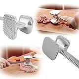 Fenrad® Alluminio Alloy Inteneritore per Carne Maniglia Batticarne Heavy Duty Carne Martello per le Carni di Maiale Pollo Bistecca Manzo Meat Tenderizer Attrezzo(M--22.5cm*5cm*5cm)