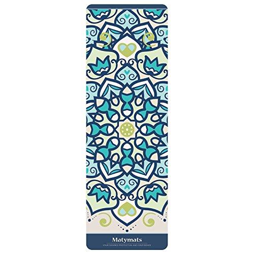 Matymats Hot Yoga Matten, Rutschhemmend, Leicht Umweltfreundlich Mikrofaser TPE Blatt Matten mit Tragegurt (Unter 900g), Standard Size - 72